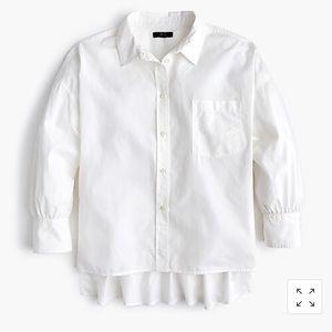 J. CREW | oversized button up cotton poplin XL